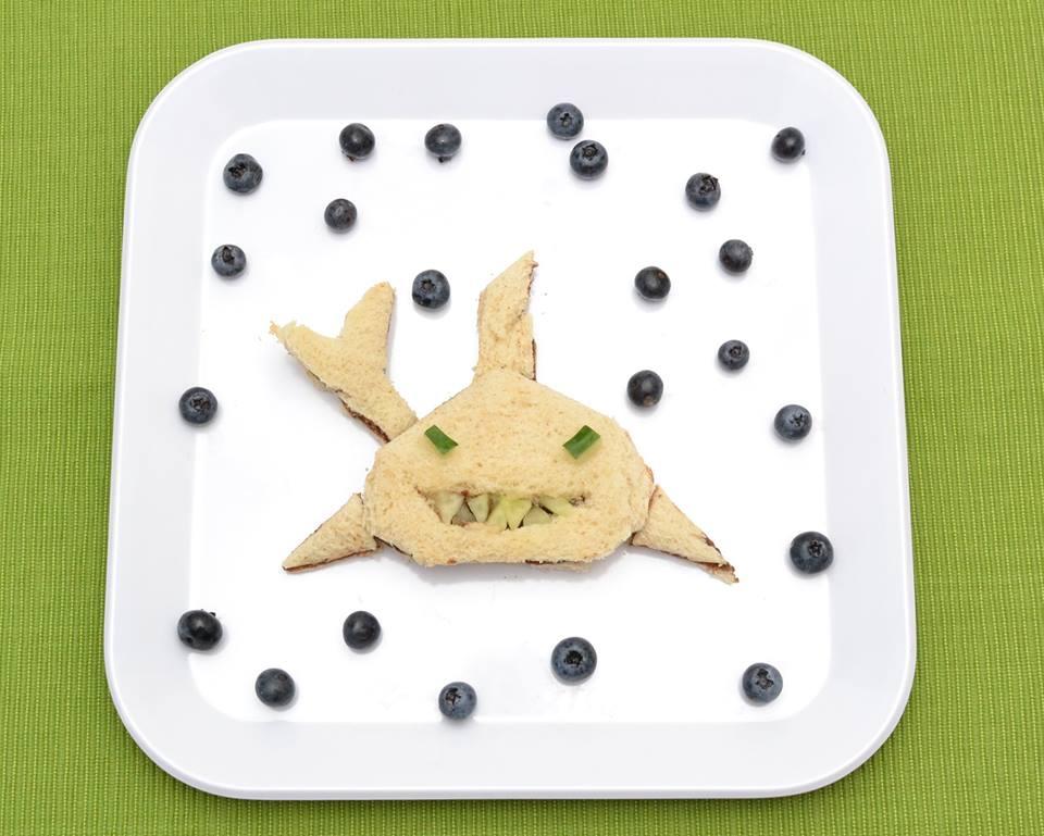Shark Shaped Sandwich for Kids, great toddler recipe idea