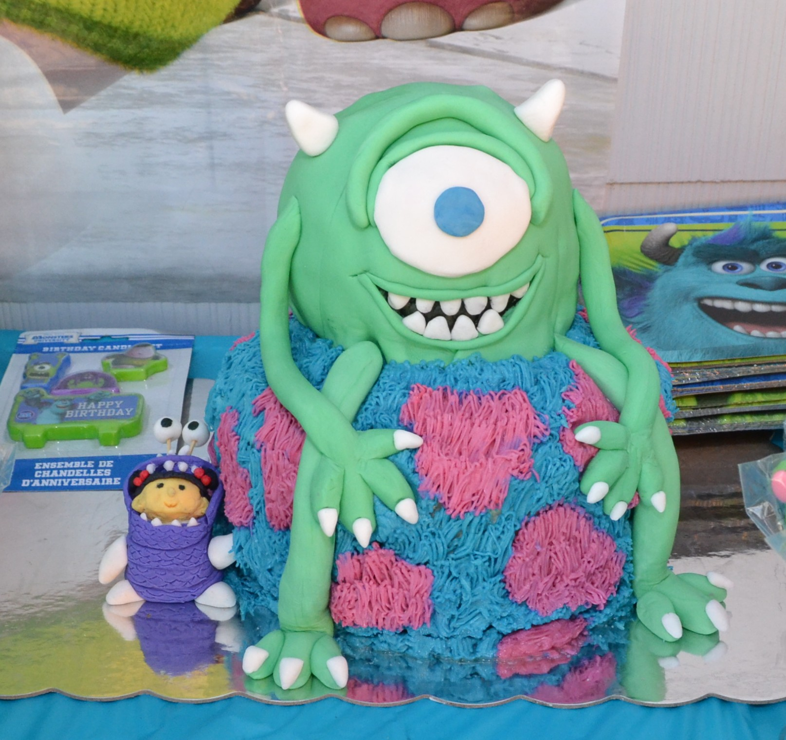 Pleasing Monsters Inc Birthday Cake Do It Yourself Personalised Birthday Cards Veneteletsinfo