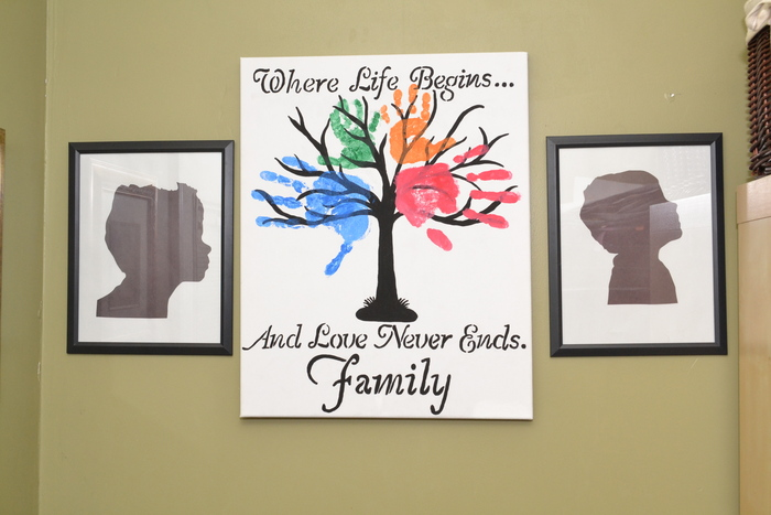 Diy family tree wall art kids silhouette picture pick for Family arts and crafts