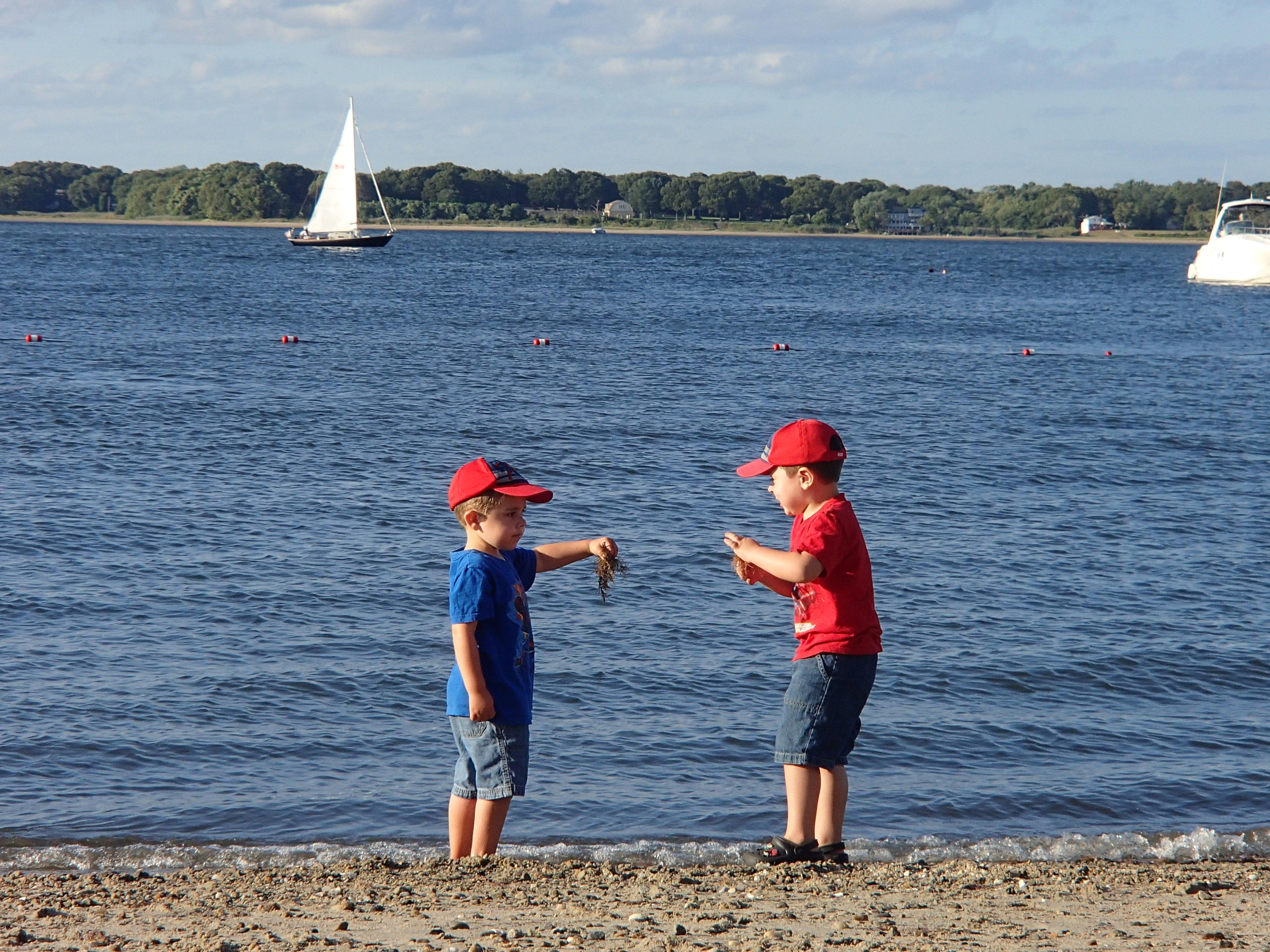 Kids at Rhode Island Beach